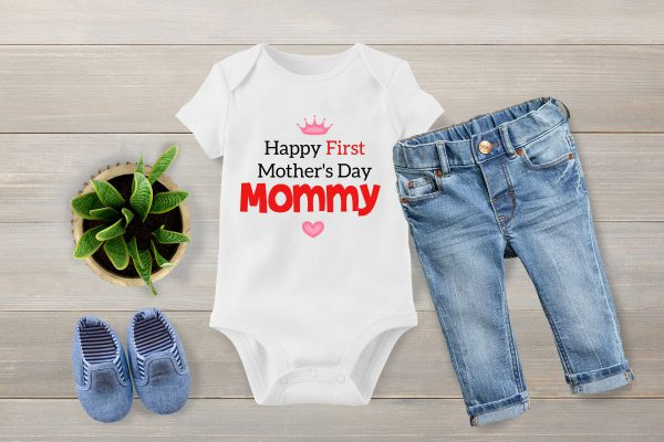 1st mothers day 2 baby vest