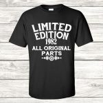 Limited edition t-shirt in black