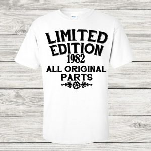 Limited edition t-shirt in white