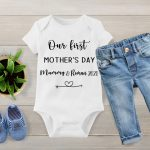 Our first Mothers day baby vest