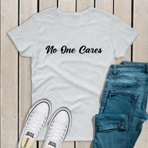 No one cares t-shirt grey