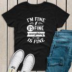 I'm fine t-shirt black
