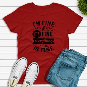 I'm fine t-shirt red