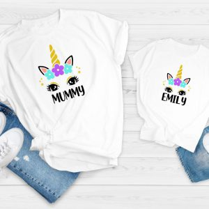 mummy and me unicorn t-shirts