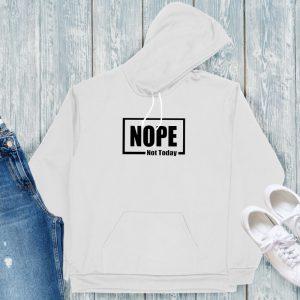 Nope Hoodie Grey